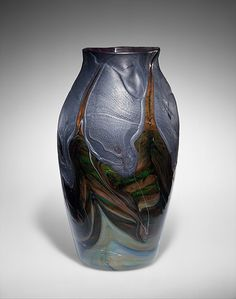 Vase Designed by Louis Comfort Tiffany (American, New York 1848–1933 New York) Maker: Tiffany Glass and Decorating Company (1892–1902) Date: 1893–96 Favrile glass
