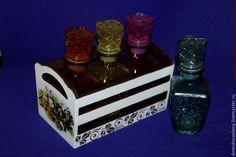 Купить Ящик Анютины глазки - белый, короб для хранения, анютины глазки, цветы, интерьер, кухня