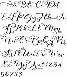 13 New Calligraphy Fonts Alphabet Printable Images