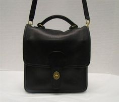 1e9ccdb5e0 Coach 5130 Station Black Satchel Crossbody Purse Leather Bag Brass Hardware