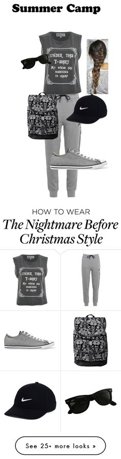 """""""Untitled #87"""" by anisabel60 on Polyvore featuring NIKE, Wildfox, Converse, Ray-Ban, summercamp and 60secondstyle"""