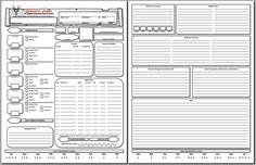 New Section, and D&D 5E Character Sheet PDF