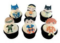 24 EDIBLE SUPERHERO Cupcake Toppers  Theme by incrEDIBLEtoppers, $19.90