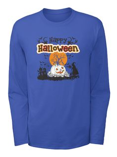 Best Happy Halloween T Shirts Royal Blue T-Shirt Front