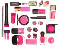 Examples of how to use pink in products and also some packaging