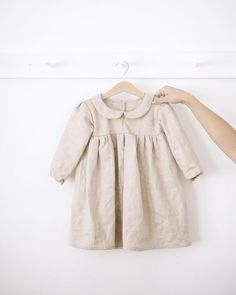 cutest linen baby girl dress