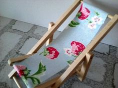 Dolls house deck chair made using cath by SmallthingsbyAmanda, £4.50