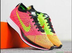 2e283260b8ba Womens Nike Flyknit Racer Hyper Punch Black Electric Green