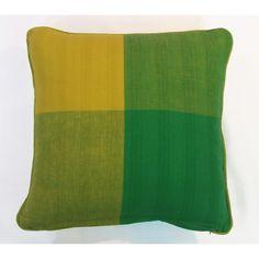 Green/Yellow Reflection Cushion Cover (45cm x 45cm) - Mode Alive - Home Decor Heaven