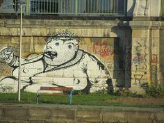 Graffito Donaukanal Wien Stencil, Graffiti, Street Art, Painting, Scribble, Stenciled Table, Painting Art, Paintings, Painted Canvas