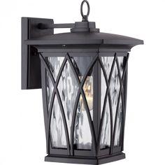 Quoizel GVR8408K - Grover Outdoor Lantern, Mystic Black
