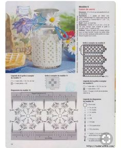 images attach c 6 124 391 Crochet Motifs, Crochet Doilies, Crochet Flowers, Free Crochet, Crochet Patterns, Crochet Cup Cozy, Crochet Bowl, Crochet Crafts, Crochet Projects