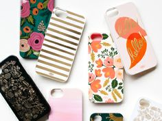 Rifle Paper Co. iPhone Cases  Available at riflepaperco.com, $30-$36