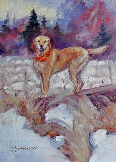 November 10, 2014 Here Is A Red Golden Retriever and Lab Painting! | Plein Aire in Maine