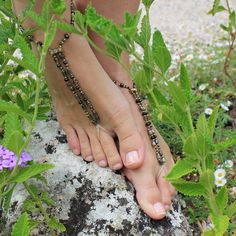Barefoot Sandals Smokey And Black Shimmer