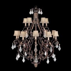 My new chandelier for the den!