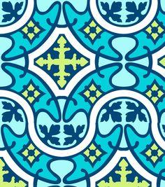 Premium Cotton Fabric-Patty Young Cartago Teal