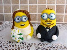 Despicable Me Fondant Wedding  Cake Topper by ArtCreationsbyLK, $51.00