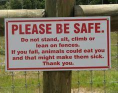 Stupid signs .