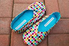 Kimono House Shoes Mod Dots: Just looking at these makes me happy! $35