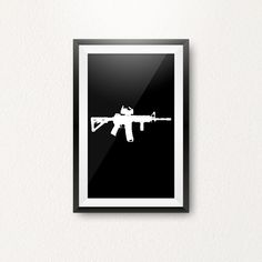 – White on Black (Sizes: A3 Size, Types Of Printing, Paper Size, Picture Wall, Weapon, A4, Digital Prints, Poster Prints, Black White