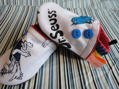Dr. Seuss Inspired Booties for Baby Boy Dr. by doodlesbabylicious, $22.00