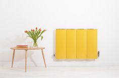Isn't this a striking contemporary radiator? It's a gorgeous  bright yellow and a great way of adding a new element of colour into a room. The design is impressive too.