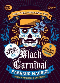 Black Carnival event 2011 edition flyer and poster design
