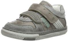 Primigi BOJORG-E - Zapatos de primeros pasos de cuero bebé, color gris, talla 25