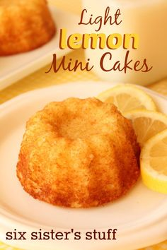 A light and moist cake bursting with lemon flavor!! Lighter in calories!
