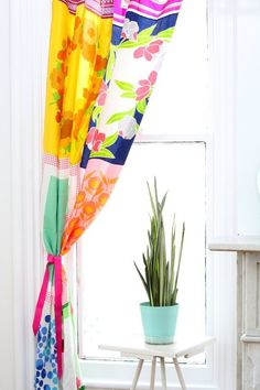 How To Make Curtains from Vintage Scarves — Apartment Therapy Tutorials | Apartment Therapy