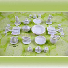 Service en porcelaine - DBA12 1/12ème #maisondepoupées #dollhouse #service #meuble #furniture #miniatures #miniature #porcelaine #porcelaine