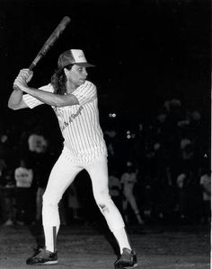 Here is Jon Bon Jovi playing baseball. You are quite welcome.