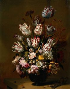 Hans Bollongier, Still Life With Flowers (includes Semper Augustus tulip).
