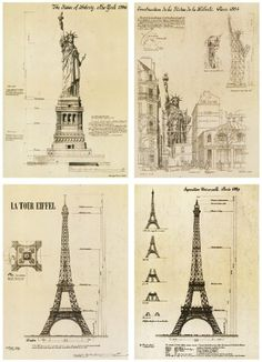 Building-structure-The-Statue-of-Liberty-La-Tour-Eiffel-Architects-for-home-decoration-.jpg (718×992)
