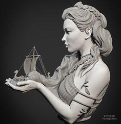 ArtStation - Norse Sea Goddess Raan , Edward Mosqueda
