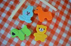Vintage Animal Mobile Music Mobile / for Baby by KidsAndKitchen