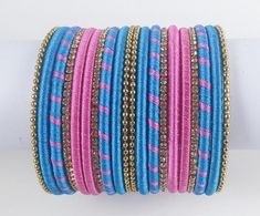 Silk Thread Bangles Design, Silk Bangles, Silk Thread Earrings, Bridal Bangles, Thread Jewellery, Indian Bangles, Wire Earrings, Handmade Jewellery, Bangle Set