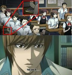 Another and Death note crossover
