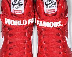 """1750807b86a Supreme x Nike Air Force 1 High """"Red"""""""