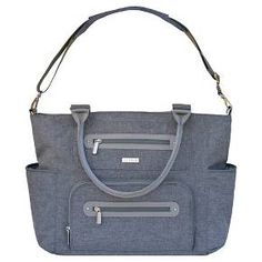 High fashion meets function in this stylish tote. Choose from three carrying options including stroller straps, a padded shoulder strap, and tote handles. Ten pockets inside and out allow you to keep everything at your fingertips, all while looking effortlessly chic.