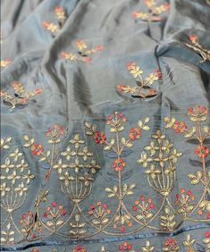 Knitting Ideas For Women Stitches 68 Best Ideas Embroidery Suits Punjabi, Zardozi Embroidery, Hand Work Embroidery, Hand Embroidery Stitches, Embroidery Dress, Beaded Embroidery, Embroidery Designs, Kurta Designs, Blouse Designs