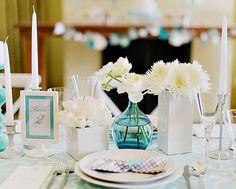 Decoração de noivado ou mini casamento: Tons de azul | Blog do Casamento - O blog da noiva criativa! | Decoração, Decoração