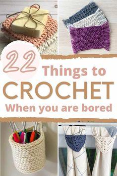 Quick Crochet Patterns, Crochet Stitches For Beginners, Beginner Crochet Projects, Crochet Designs, Crochet Yarn, Knitting Patterns, Quick Crochet Gifts, Easy Things To Crochet, Fast Crochet