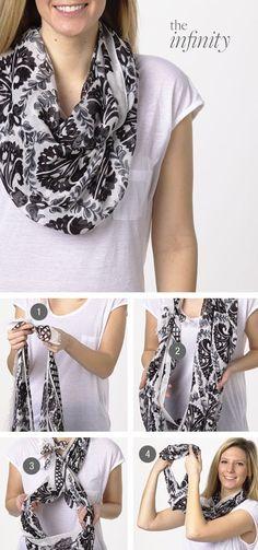 How To Wear Pashminas Scarf Knots 45 Ideas Ways To Wear A Scarf, How To Wear Scarves, Ways To Tie Scarves, Wearing Scarves, Look Fashion, Autumn Fashion, Womens Fashion, Fashion Tips, Fashion Fashion
