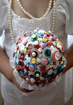 Idea - button bouquet
