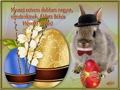 Húsvéti képeslapok 1... Holiday Gif, Adobe Illustrator, Rabbit, Illustration, Animals, Holidays, Bunny, Rabbits, Animales
