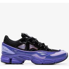 808ea7895b32 Adidas By Raf Simons Purple And Black Ozweego Iii Leather Sneakers ( 425) ❤  liked