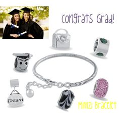 Mimzi custom charm bracelets exclusively from Azuli Skye. Mix  and match from hundreds of charms and beads. Create a unique piece your grad will adore!  http://azuliskye.com/Annahoward