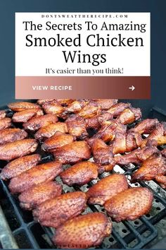 Smoker Grill Recipes, Smoker Cooking, Grilling Recipes, Best Smoker Grill, Grilling Ideas, Bbq Grill, Smoker Chicken Wings, Smoke Chicken Wings Recipe, Traeger Chicken Wings Recipe